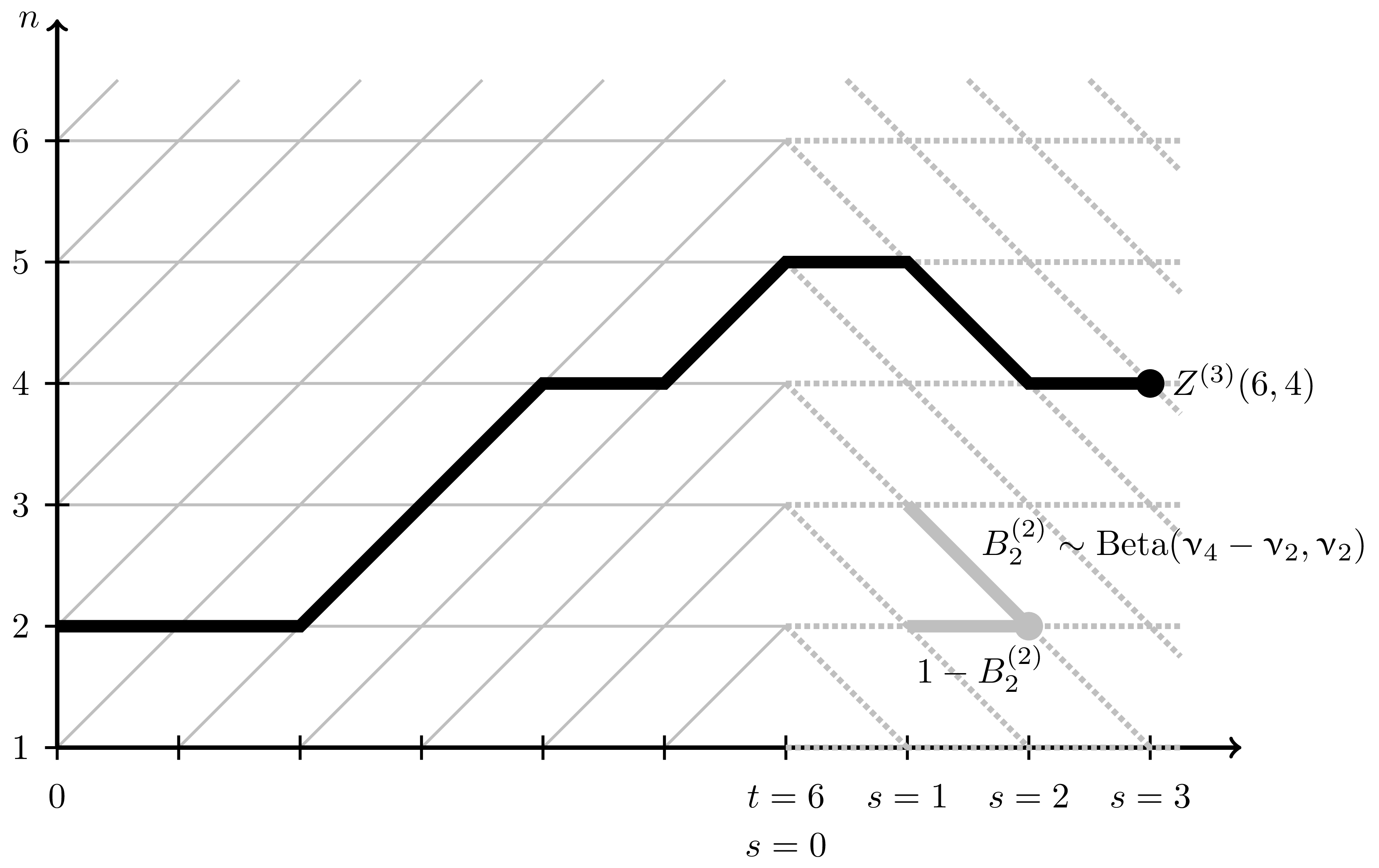 Modification of the lattice leading to the elimination of parameters of the beta polymer