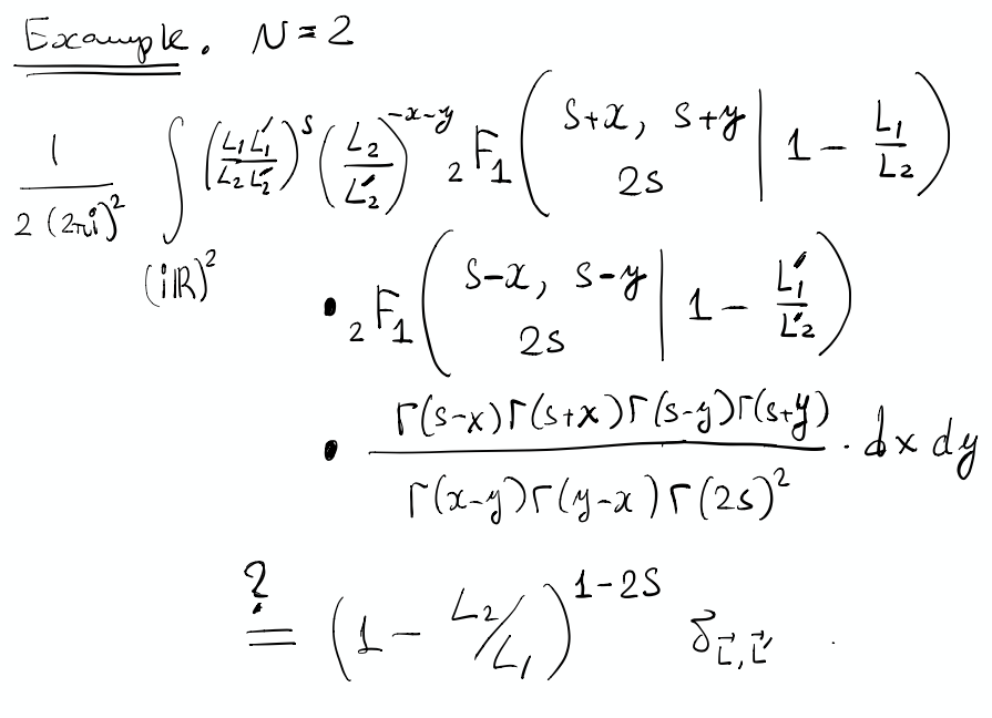 Conjectural orthogonality for N=2