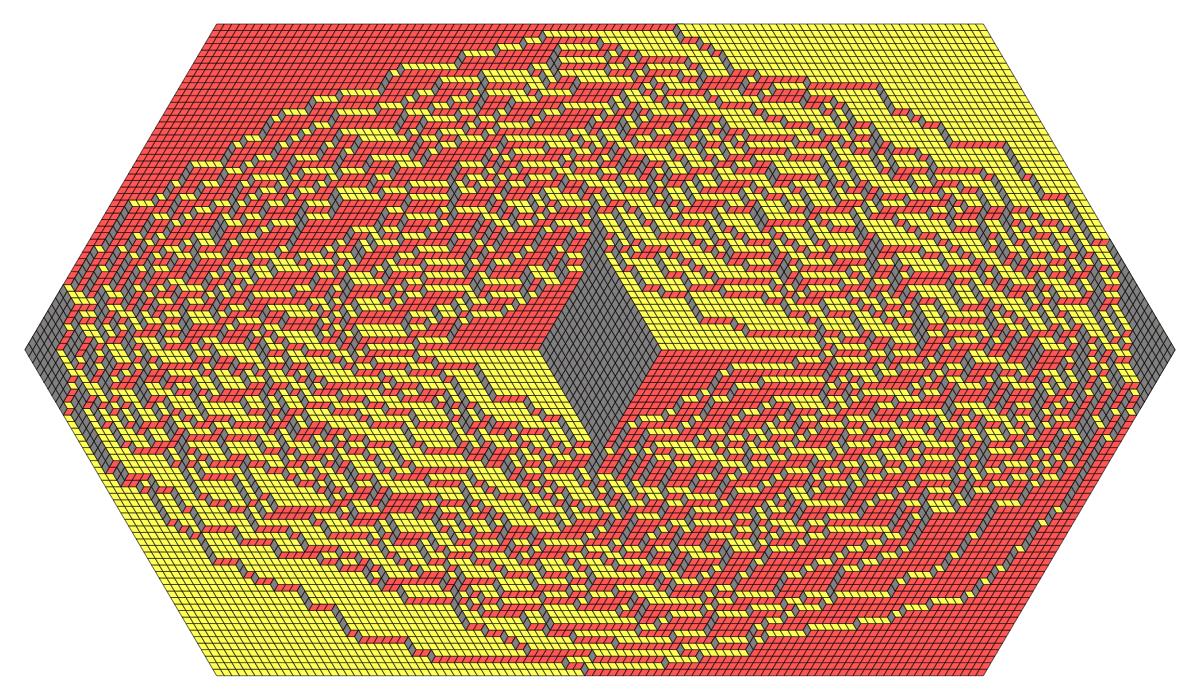 Tiling with a symmetric hole